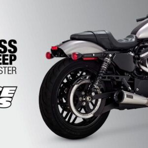 VANCE & HINES, STAINLESS 2-1 UPSWEEP EXHAUST SPORTSTER 04-20
